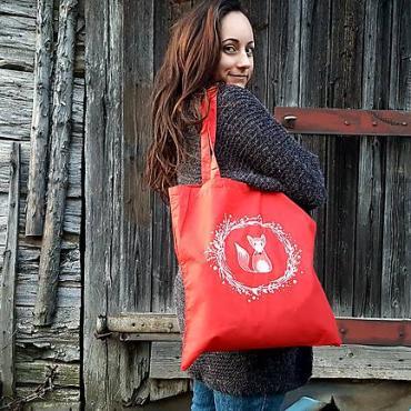Nákupná taška s líštičkou