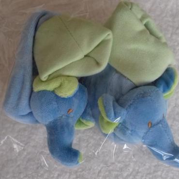 Papučky pre bábätko - sloníkové