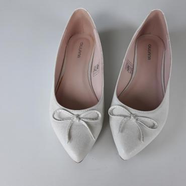 Dámske baleríny biele veľkosť  38