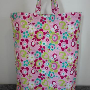 Nákupná taška z pevnej poťahoviny Flowers 3