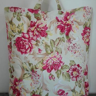 Nákupná taška z pevnej poťahoviny Flowers 2