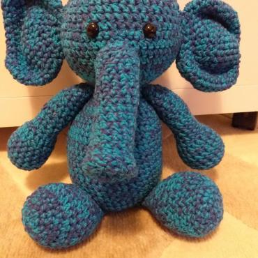 Hackovany slonik
