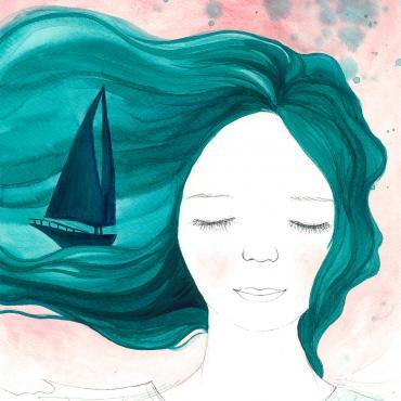 Snívam o mori II, ilustrácia