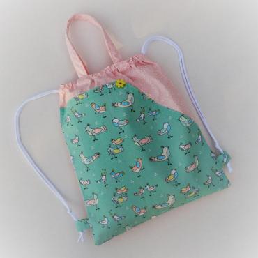 """Detský taškobatoh """"veselé vtáčiky"""" + obal na vreckovky grátis"""