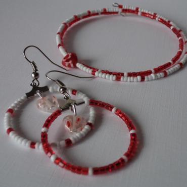 Súprava červeno-biela