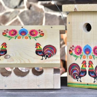 Set - vtáčia búdka a krmítko