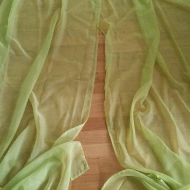 2x dlhe zelene zavesy