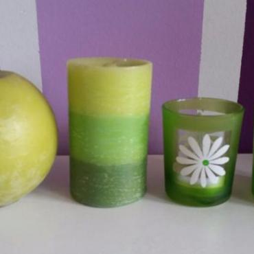 Zelené sviečky-cena polu