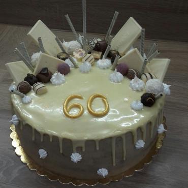 Nepotahovana torta s cokoladou