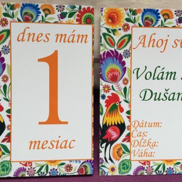 Folklórne míľnikové kartičky s kohútikom